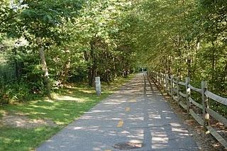 Blackstone Valley Bike Path in Rhode Island