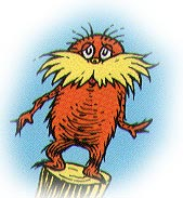lorax on truffula stump