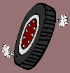 rolling tire graphic