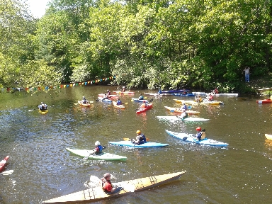 Canoe Race 2012, Kayakers at Starting Line