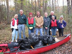 Cleanup volunteers at Plummer's Landing