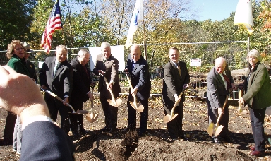 Officials with shovels-2012 Greenway groundbreaking