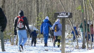 hikers heading to Little Purgatory